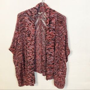 UO l Ecote Pink Knit Open Cardigan Shrug
